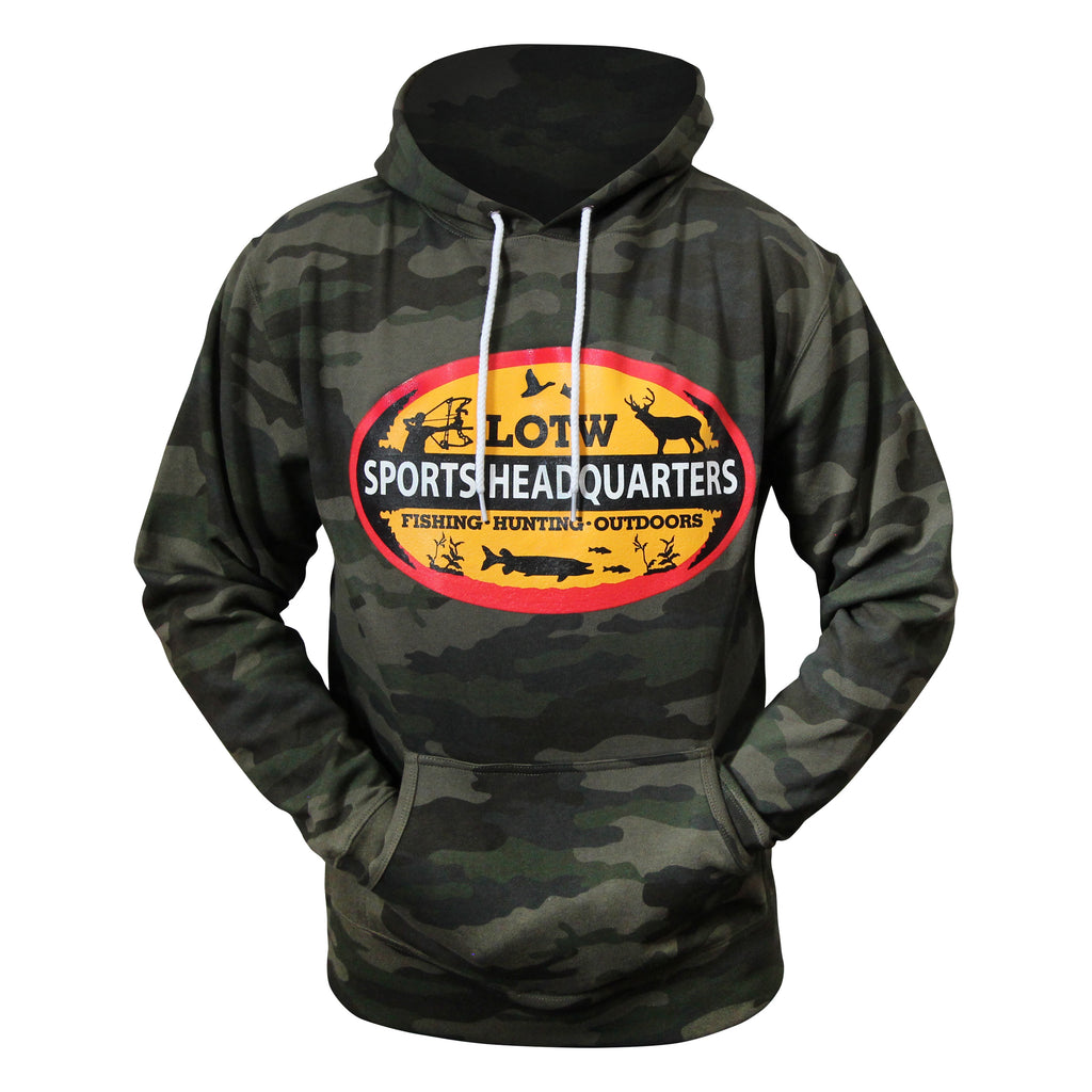 LOTW Sports Headquarters Adult Unisex Hoodie - Forest Camo