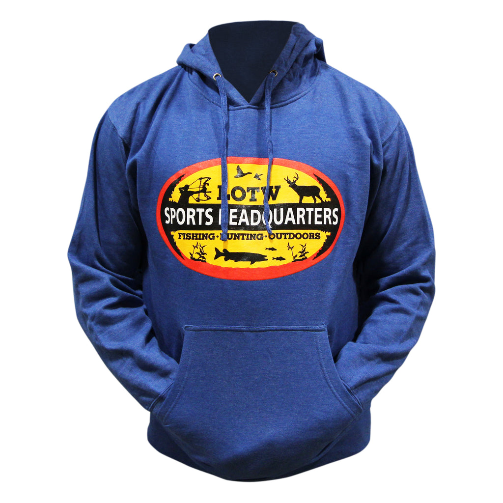 LOTW Sports Headquarters Adult Unisex Hoodie - Royal Heather