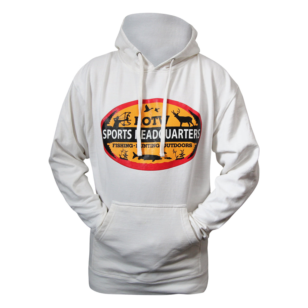 LOTW Sports Headquarters Adult Unisex Hoodie - White