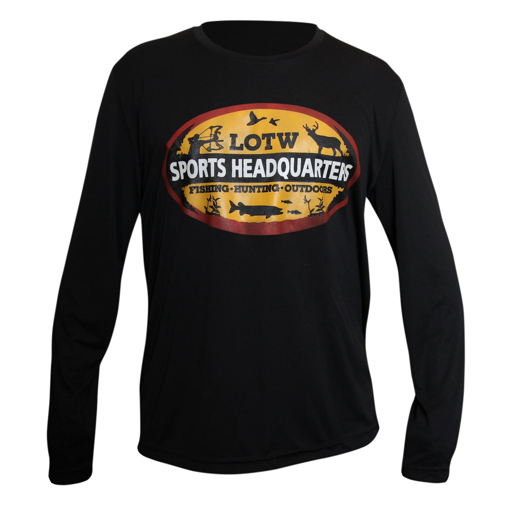 LOTW Sports Headquarters Adult Unisex Long Sleeve T-Shirt - Black