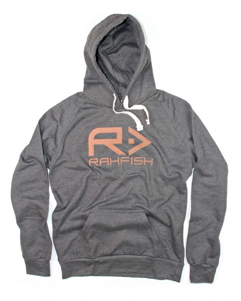 Rahfish Big R Hoodie - Charcoal/Orange