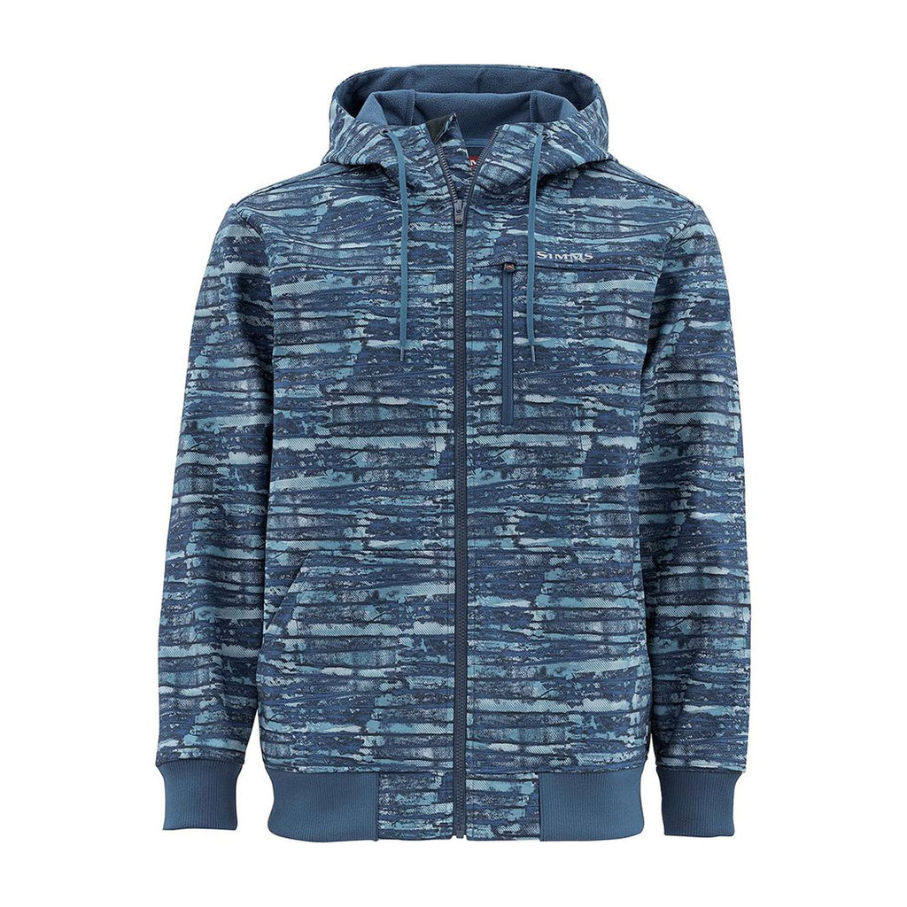 Simms Rogue Fleece Hoody - Water Print Dusk