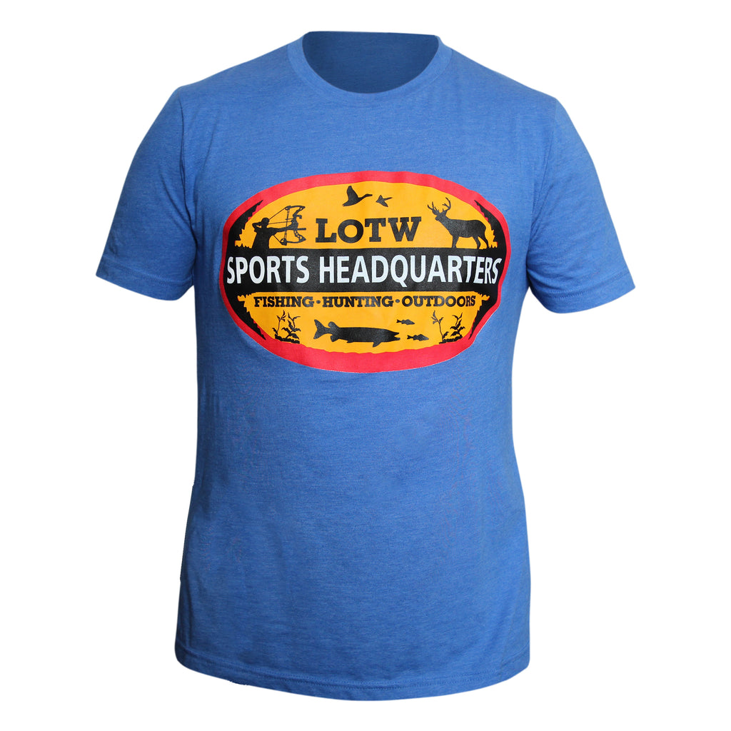 LOTW Sports Headquarters Adult Unisex T-Shirt - Light Blue