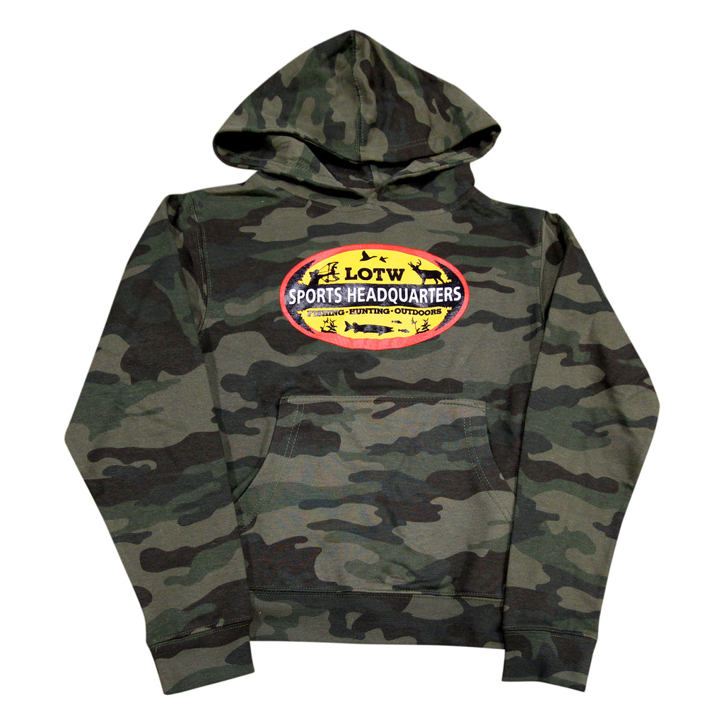 LOTW Sports Headquarters Youth Hoodie - Forrest Camo