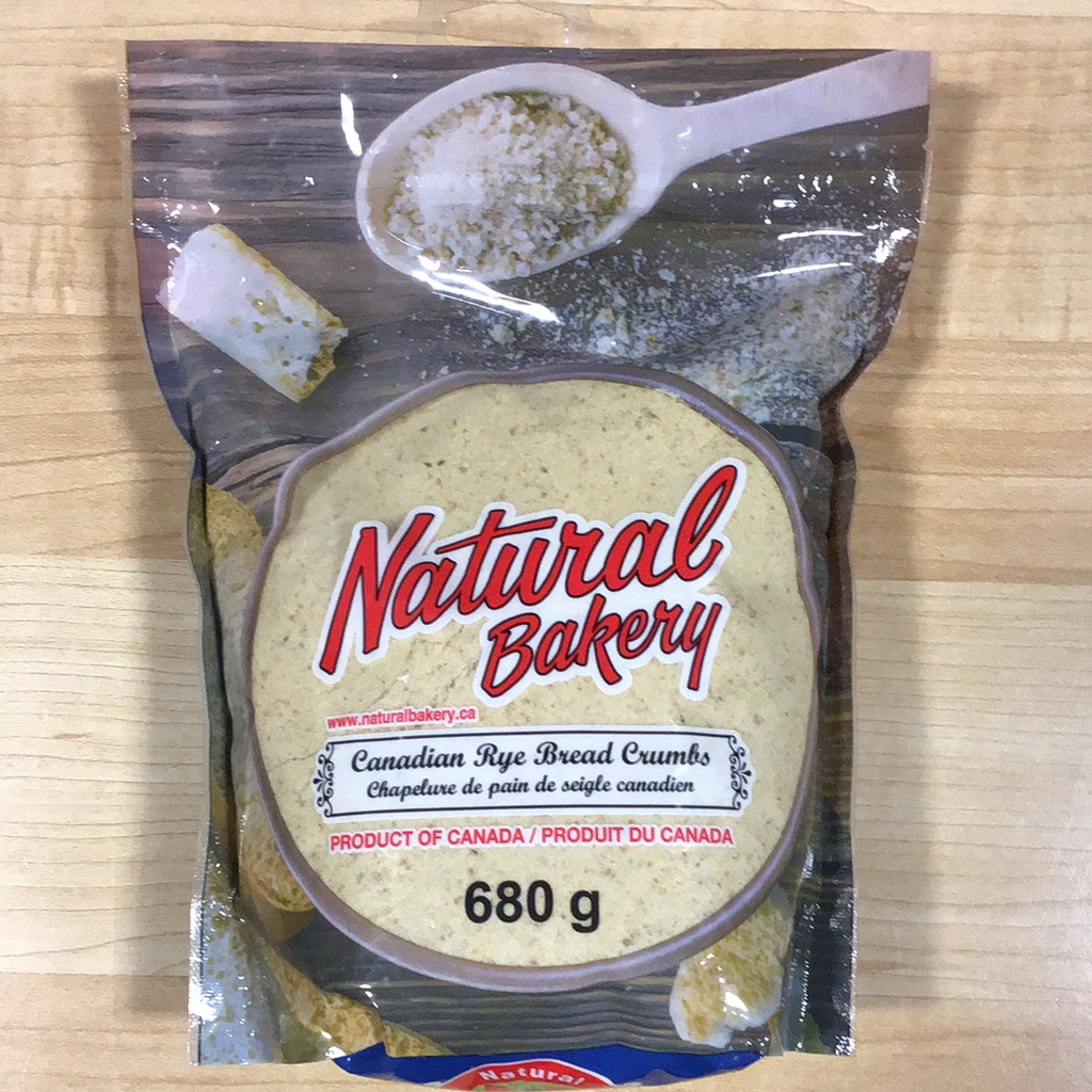 Natural Bakery Canadian Rye Bread Crumbs