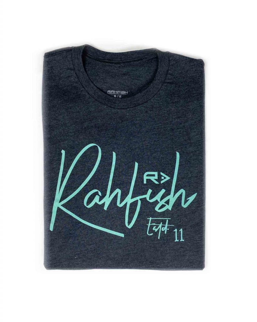 Rahfish Hooker Tee - Charcoal/Blue