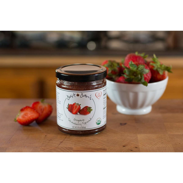 Strawberry and strawberries Organic spread preserves jam