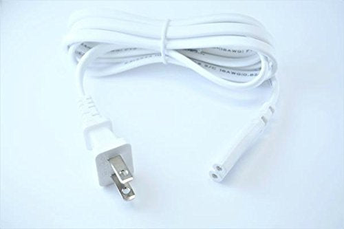 [UL Listed] OMNIHIL White 5 Feet Long AC Power Cord Compatible with LG RK7 XBOOM
