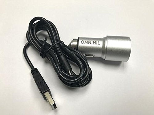 OMNIHIL Replacement  2-Port USB Car Charger+(30FT)MICRO-USB for Lone Wolf Active LED Safety Light Power Supply
