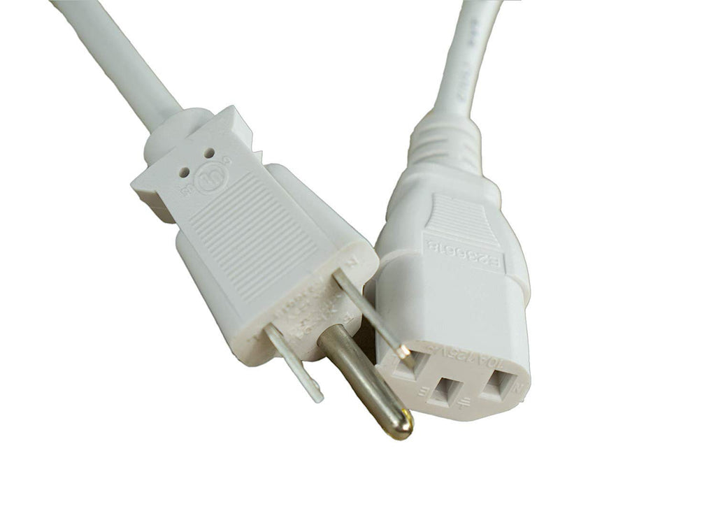 [UL Listed] OMNIHIL White 15 Feet Long AC Power Cord Compatible with Juniper Networks SRX240H2
