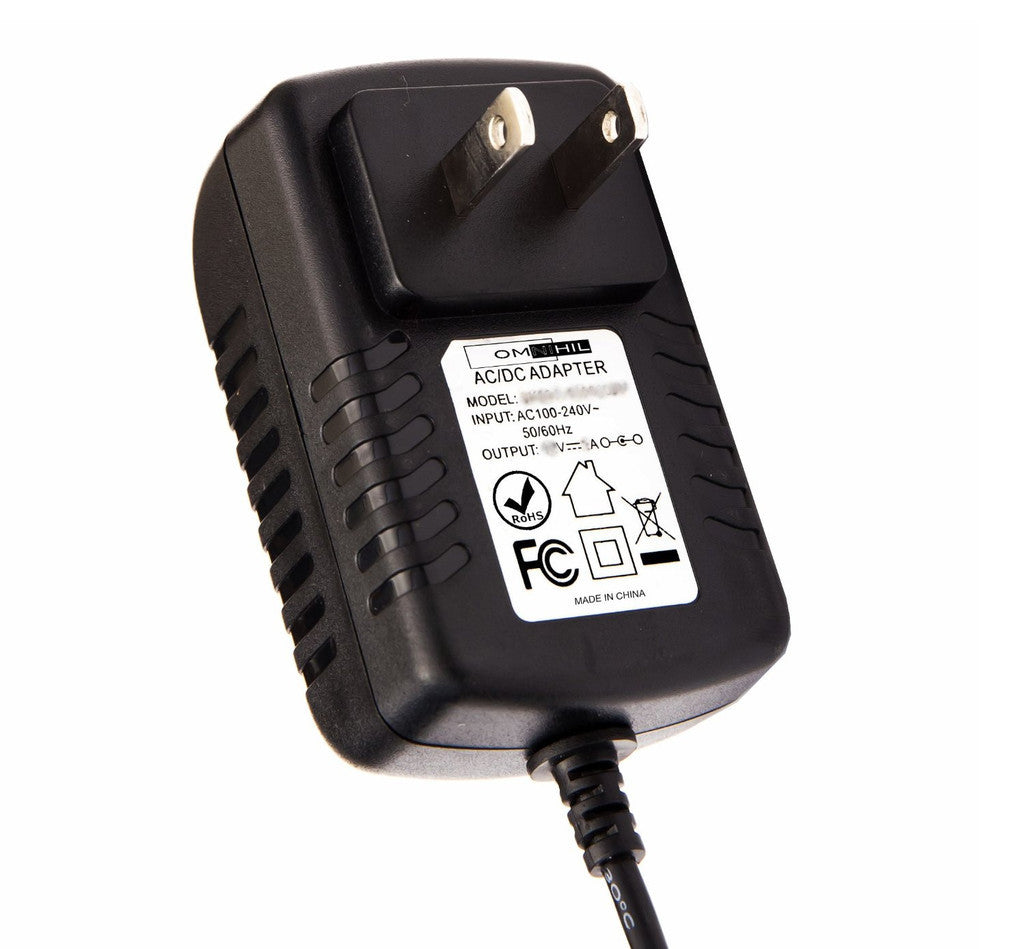 OMNIHIL AC/DC Adapter/Adaptor for Most 12V Yamaha Models: PA, PSR, YPT, PSS, SVC, DGX, EZ, KB, MDF, MOX, NP, P  Wall Charger Power Supply Cord