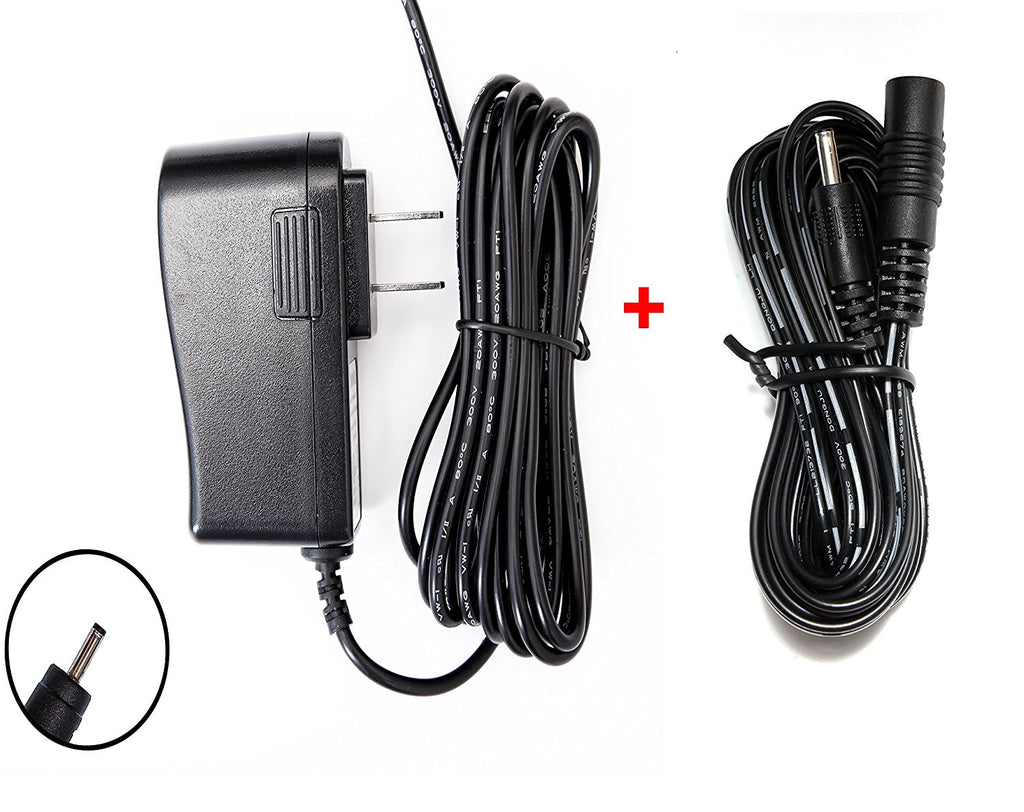 OMNIHIL 8FT AC/DC Adapter and 10FT Extension Cord for Samsung SEW-3037W, SEW-3036W, SEW-3037W 3037, SEW-3038, SEW-3038W, SEW-3040 SEW-3040W, SEW-3020WN LED Monitor & Camera