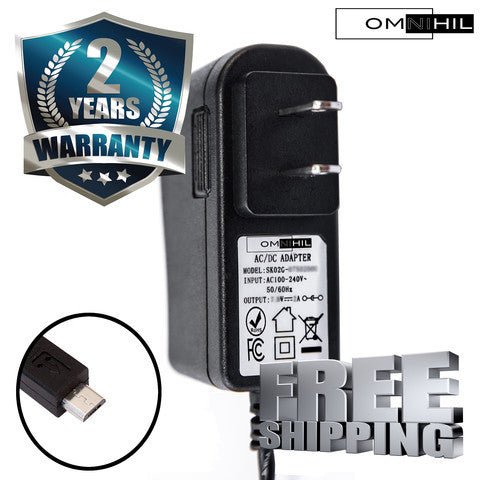 Omnihil 2M Long AC//DC Adapter//Adaptor Compatible with Logitech Harmony Elite 915-000256