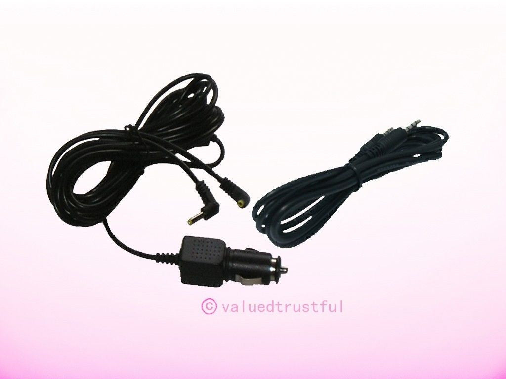 Audio Cable & Car Charger For Philips PD7012/37 PET7402/37 PD9012/17 PET7402S/37