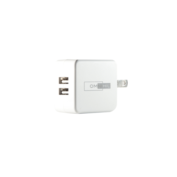 [UL Listed] OMNIHIL 2-Port Wall Charger+5FT-MICRO-USB Cable Compatible with ION Aquaboom