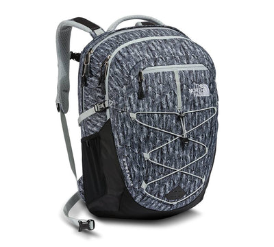 High Rise Grey Feather Leaf Print/TNF Black