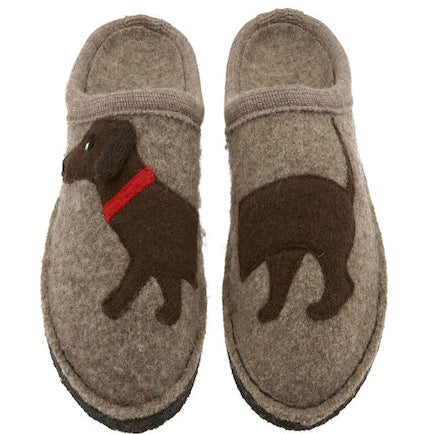 Haflinger Doggy Slipper Earth - Women's