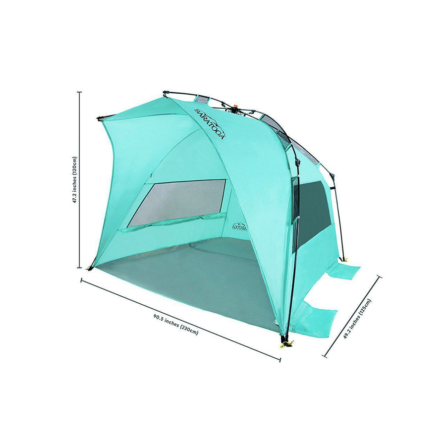 SARATOGA OUTDOOR INSTANT AUTOMATIC POP UP BEACH TENT - LARGE
