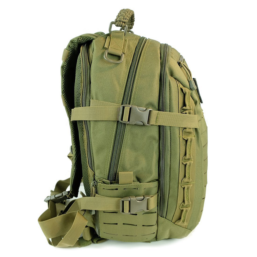 Saratoga Outdoor Equipment & Apparel Company Tactical Ops Military Tactical Army EDC Travel Assault Molle Backpack for Outdoor Hiking Camping Trekking Hunting - Green
