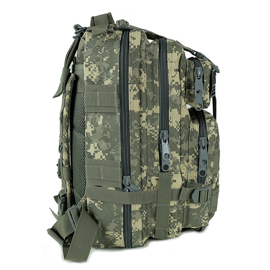 Saratoga Outdoor Equipment & Apparel Company Tactical Ops Military Tactical Backpack Army Combat 3 Day Assault Pack Molle Bug Out Bag Rucksacks for Outdoor Hiking Camping Trekking Traveling and Hunting with Flag Patches - ACU