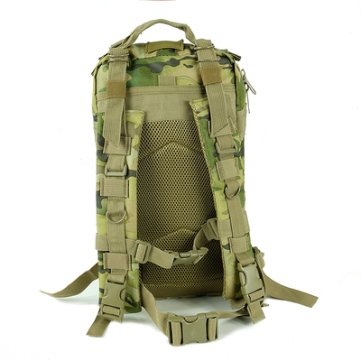 Saratoga Outdoor Equipment & Apparel Company Tactical Ops Military Tactical Backpack Army Combat 3 Day Assault Pack Molle Bug Out Bag Rucksacks for Outdoor Hiking Camping Trekking Traveling and Hunting with Flag Patches - CP