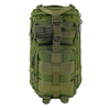 Saratoga Outdoor Equipment & Apparel Company Tactical Ops Military Tactical Backpack Army Combat 3 Day Assault Pack Molle Bug Out Bag Rucksacks for Outdoor Hiking Camping Trekking Traveling and Hunting with Flag Patches - Green