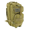 Saratoga Outdoor Equipment & Apparel Company Tactical Ops Military Tactical Backpack Army Combat 3 Day Assault Pack Molle Bug Out Bag Rucksacks for Outdoor Hiking Camping Trekking Traveling and Hunting with Flag Patches - Tan