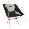 Saratoga Ultralight Portable Folding Camping Backpacking Chairs with Carry Bag For Outdoor Picnic,Hiking, Fishing, Camping, Garden BBQ, Beach - Orange