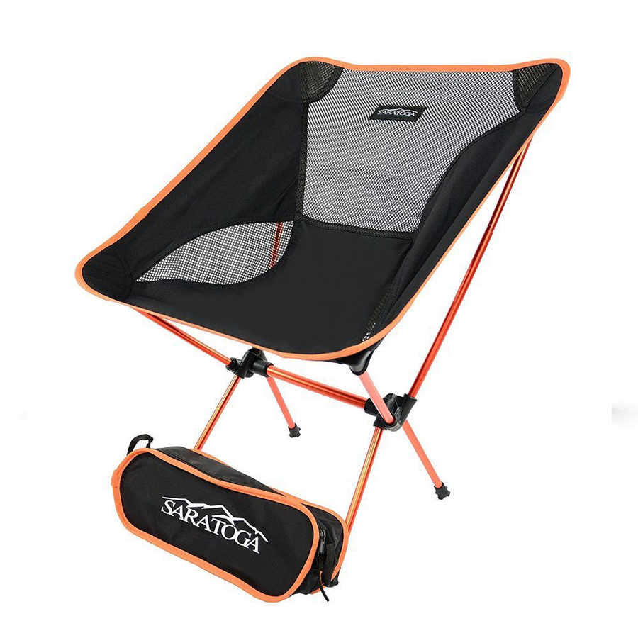 60c52efd2c Saratoga Ultralight Portable Folding Camping Backpacking Chairs with Carry  Bag For Outdoor Picnic,Hiking, ...