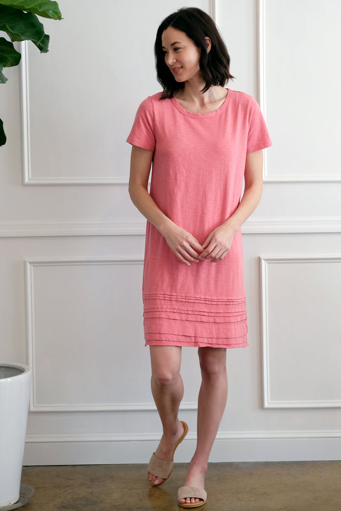 T-Shirt Dress w/ Pleated Hem