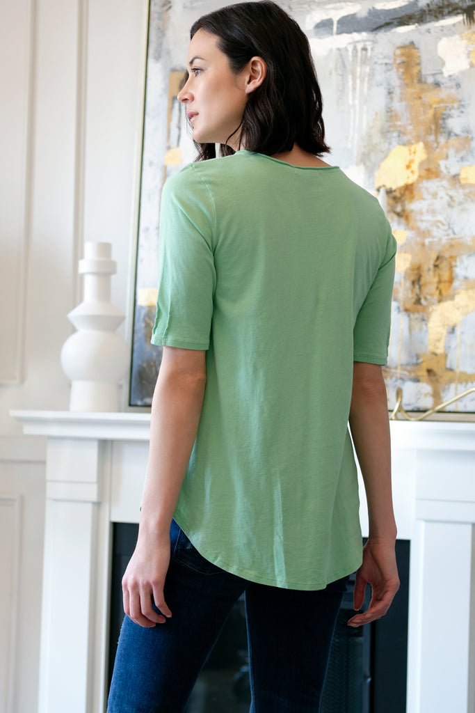 Elbow Sleeve Tee w/ Pintucks - Mododoc