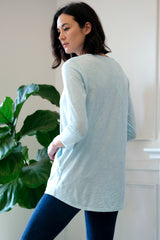 3/4 Sleeve Tee w/ Diagonal Seams + Pocket - Mododoc