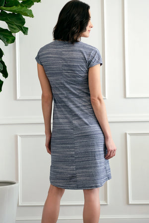 Short Sleeve Dress w/ Crossover Front - Mododoc