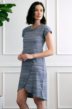 Short Sleeve Dress w/ Crossover Front