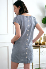Button Back Shift Dress - Mododoc