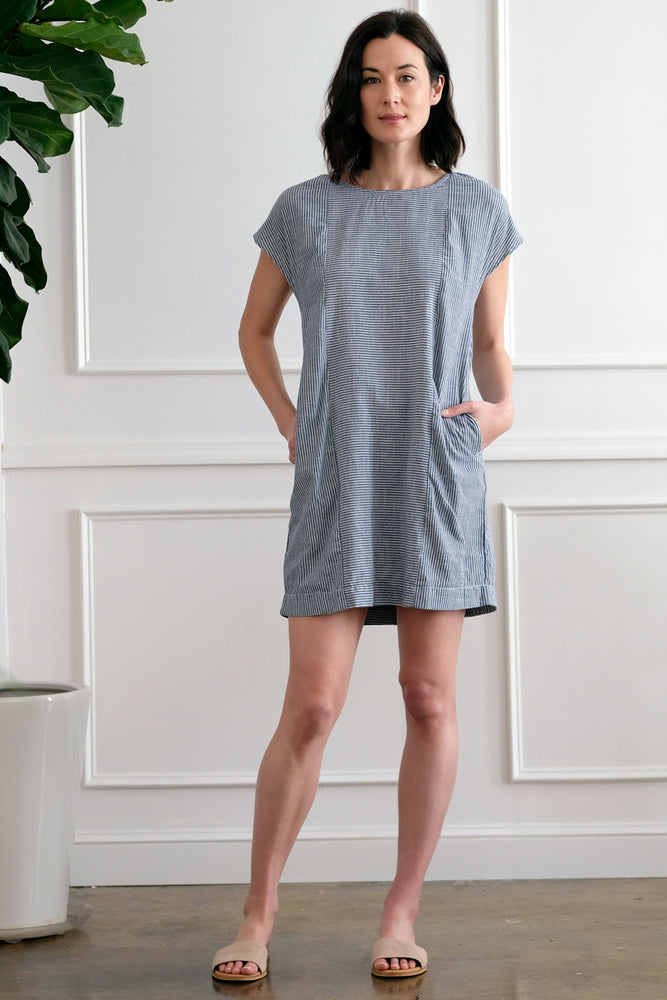Button Back Shift Dress