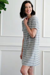 Short Sleeve T-Shirt Dress - Mododoc