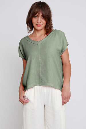 Dolman Sleeve V-Neck Top - Mododoc
