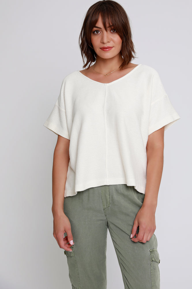Boxy Top w/ Back Cut-out