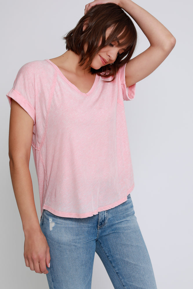 V-Neck Seamed Tee