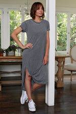 Knotted Midi T-Shirt Dress
