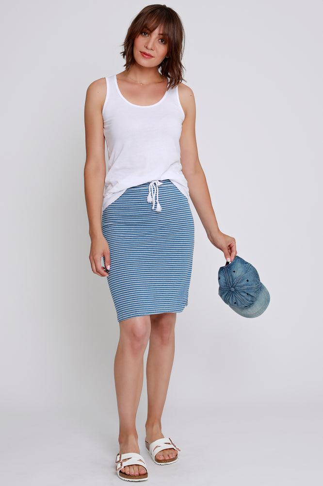 Drawstring Pull-On Skirt
