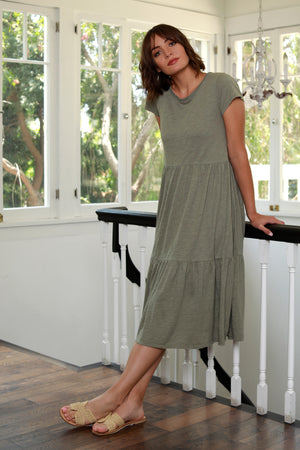 Tiered T-Shirt Dress - Mododoc