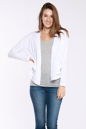 Drop Shoulder Patch Pocket Boxy Cardigan