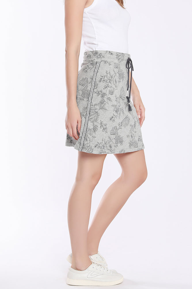 Short Skirt W/ Stripe Trim