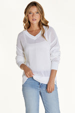 Long Sleeve V-neck Hi-Low Sweater