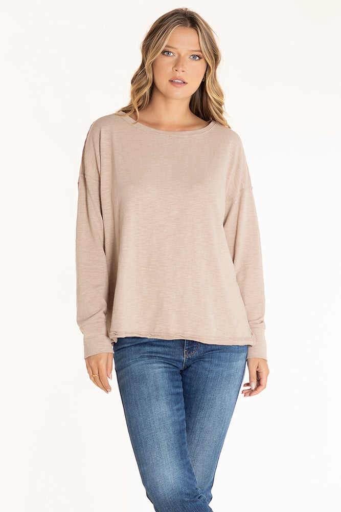 Long Sleeve Boatneck Tee