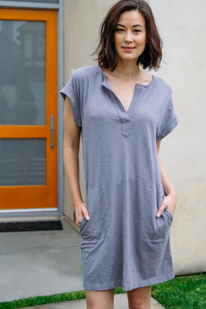 Notch Neck Dress - Mododoc
