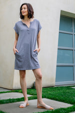 Notch Neck Dress