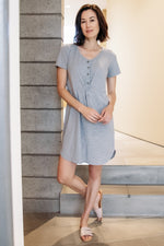 Knotted Button Front Dress